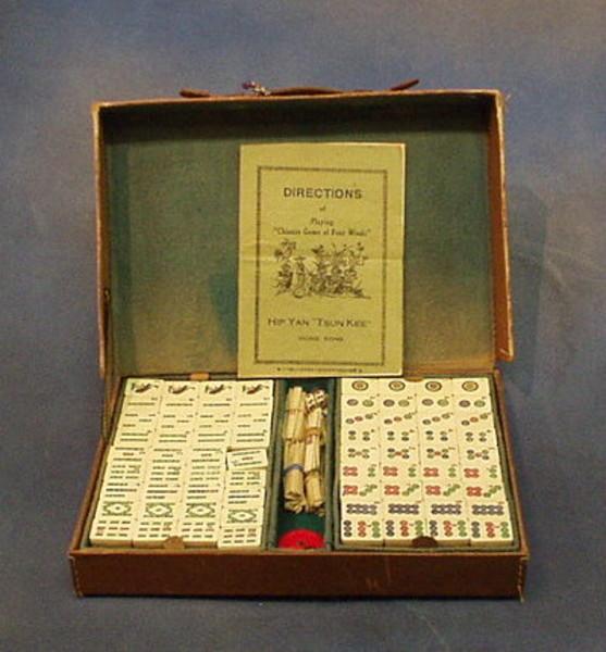 Antique Real Ivory Mahjong Set Best 2000 Antique Decor