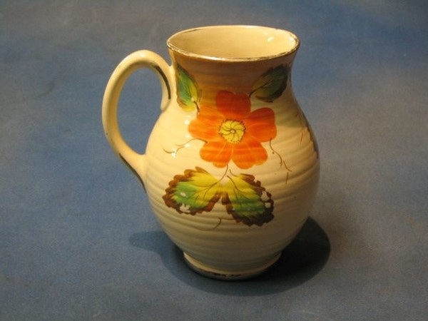 A 1930s Art Deco Arthur Wood Pottery Jug With Orange 17th