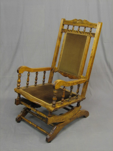 From Chairs, Sofas, Chaise Longues in the Antique & Fine Quality Furniture  section in our Antique, Fine Art and Collectables auction held on Wednesday  23rd ... - A 19th Century Mahogany American Rocking Chair With 23rd August
