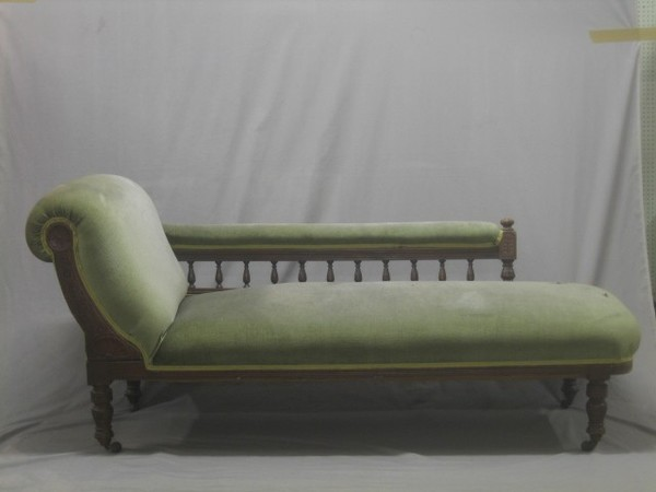 An Edwardian carved oak show frame chaise longue with | 20th January on antique chaise lounge, antique fabric, antique glider, antique daybed, antique chair, antique parasol, antique egg, antique dresser, antique commode, antique books, antique chalice, antique french country, antique fainting couch, antique lighting, antique beds, antique fountain, antique sofas, antique recliner, antique armchairs, antique chaise couch,