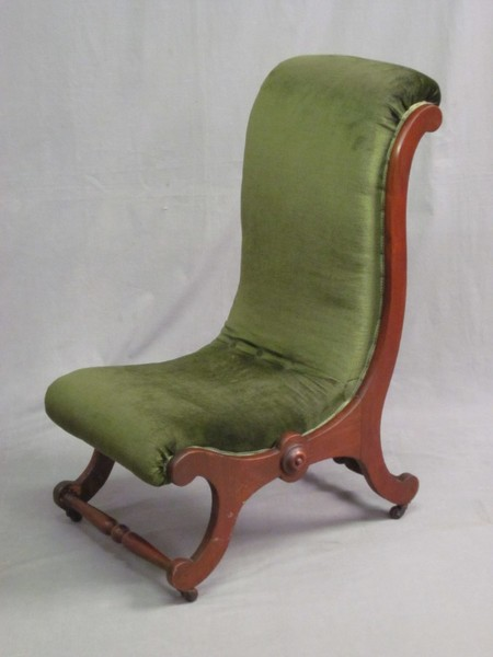 From Chairs, Sofas, Chaise Longues in the Antique & Fine Quality Furniture  section in our Antique, Fine Art and Collectables auction held on Wednesday  1st ... - A Victorian Mahogany Show Frame Nursing Chair 1st September 2010